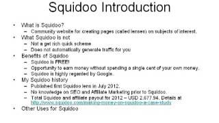 Roy yap, making thousands of dollars a month on squidoo, shared about what's squidoo.com and how you can leverage this platform as content publisher. mo...