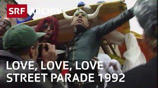 Street Parade in Zürich (1992) | Love, Love, Love | Technoparty für die Liebe | SRF Archiv