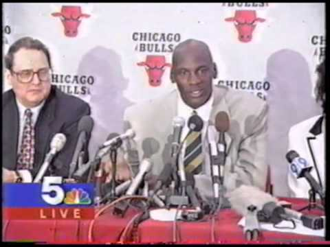 michael jordan retirement press conference youtube. Black Bedroom Furniture Sets. Home Design Ideas