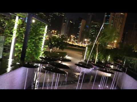 Music Fountain @ night Doha