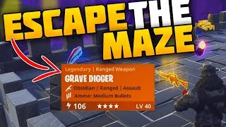 ESCAPE THE MAZE FOR FREE LEGENDARY WEAPONS! - Fortnite Save The World Maze