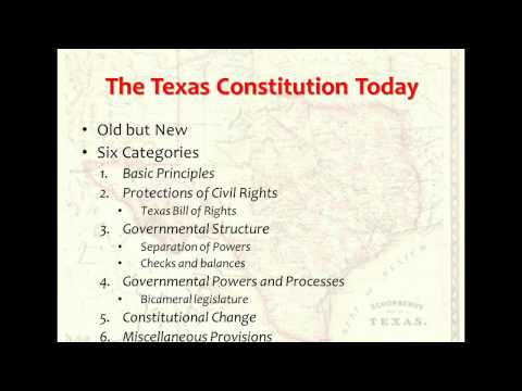 The Texas State Constitution
