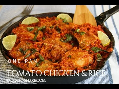 One Pan Tomato Chicken & Rice In 30 Minutes