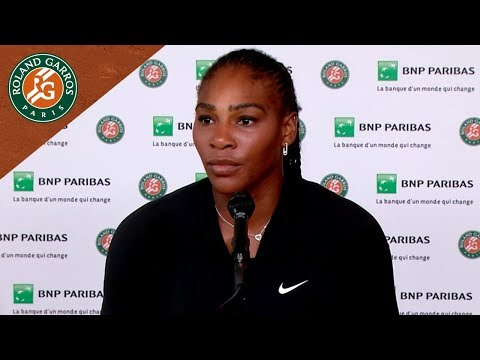 Serena Williams - Press Conference about her withdrawal I Roland-Garros 2018