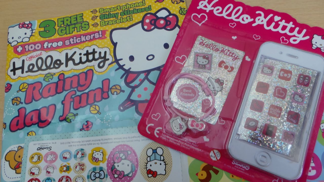 Opening Of Hello Kitty Comic Magazine Issue 62 October 2014 Free