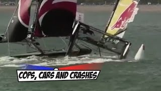 Red Bull Sailing Crashes Into Alinghi During Race