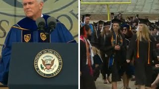 Students Walk Out Of Mike Pence Commencement Address