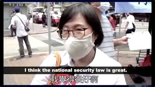 HK citizens cast their support for national security laws