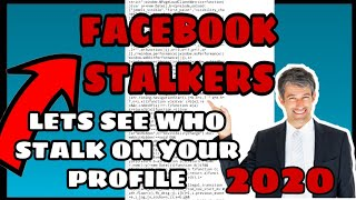How To See Facebook Stalker Using Cellphone 2020 Youtube