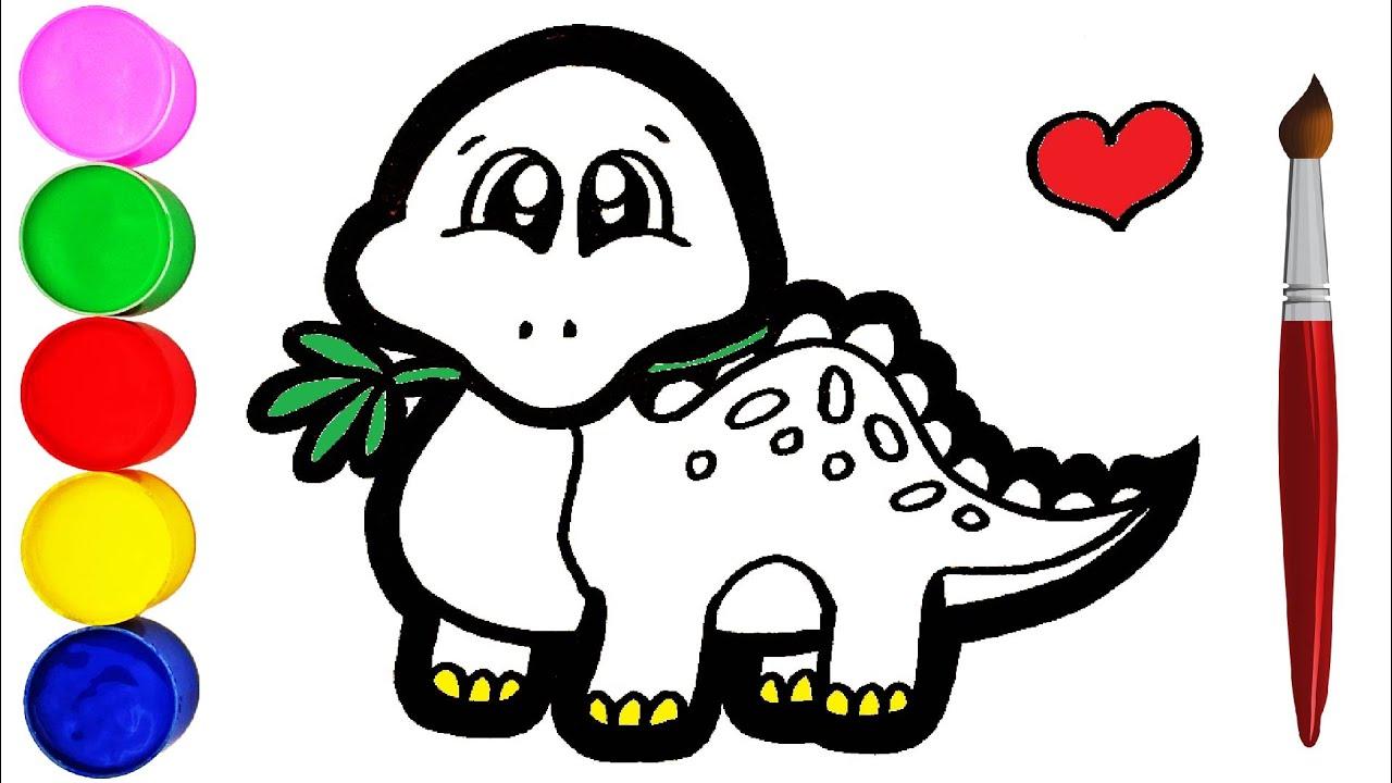 Dinosaurier Einfach Zeichnen und Malen für Kinder