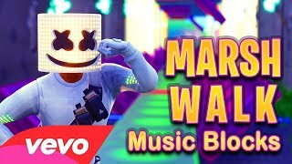 Marshmello - Marsh Walk Note blocks (Fortnite Music block Video)