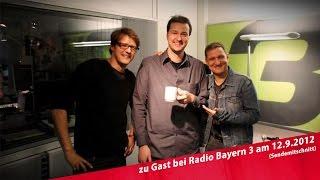 Stelzner & Bauer am 12.9.2012 zu Gast bei Stefan Schwabeneder in Radio Bayern 3