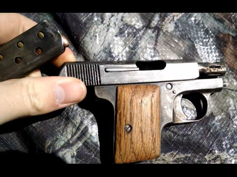french 6 35mm mystery pistol 25 caliber part1 youtube
