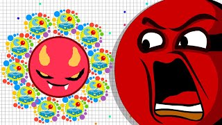 Agario Mobile +36K Evil Dominating The Server Premium Evil Skin (Agar.io Funny Moments)