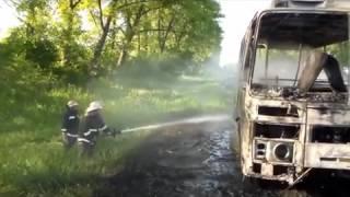 Загорелся ПАЗик в Золотоношском районе