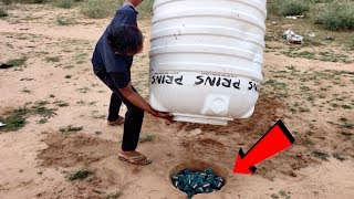 Green VIP vs Water Tank Underground Experiment || Water Tank Fly Or Not || Experiment King