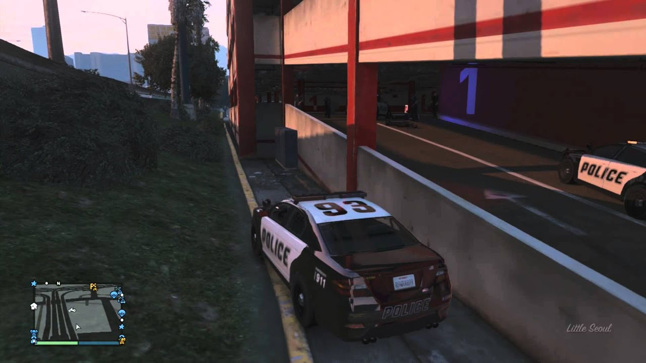 Gta 5 online parking garage wall breach invincible for Garajes gta v online