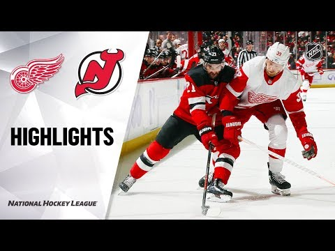 NHL Highlights | Red Wings @ Devils 11/23/19