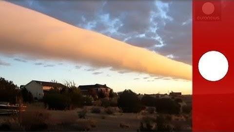Amateur video: Rare roll cloud caught on camera over Texas