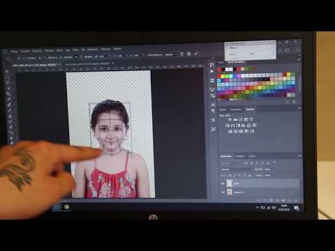 Biyometrik fotograf  photoshopta yapılıs