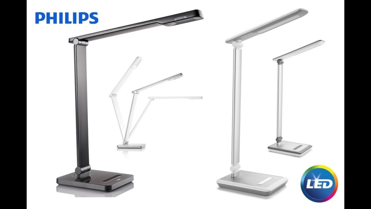 Philips caliper eye protection led desk lamp youtube philips caliper eye protection led desk lamp geotapseo Images