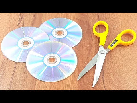 Old recycling cd disc reuse idea | Best out of waste | recycling cd disc craft