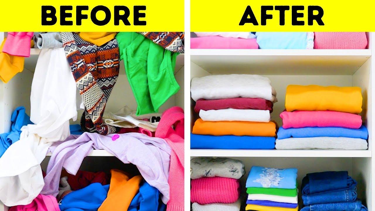 20 Space Saving Clothes Folding Ideas Youtube