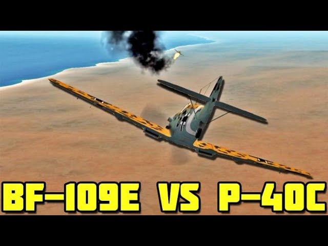 Duel and Dogfights - Bf-109E VS P40C over Tobruk - Episode 2