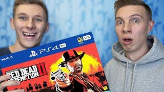 ПОДАРИЛ ДРУГУ PS4 с Red Dead Redemption 2! Подарок ПС4 на 20 дней + мини ПРАНК