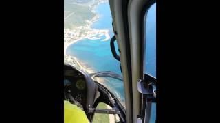 Tour d'hélicoptère à Pietracorbara (corse)