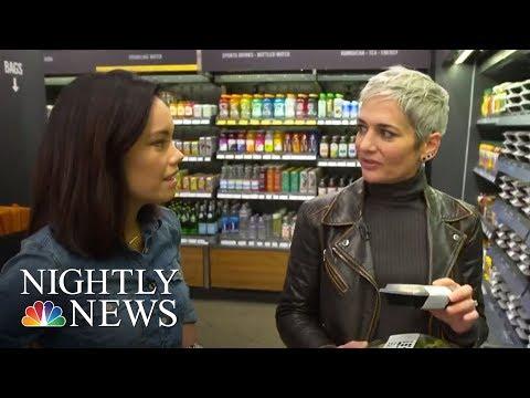 Inside Amazon's High-Tech Grocery Store | NBC Nightly News