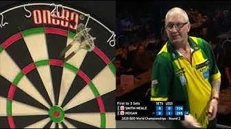 13 perfect darts in a row from Paul Hogan!