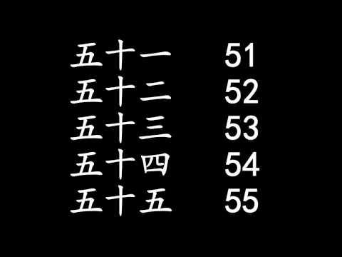 Học đếm số (数字) - từ 1 đến 100