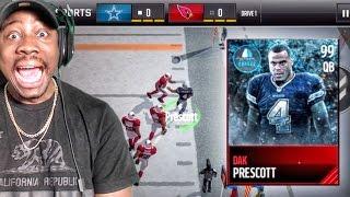 99 FROZEN HERO DAK PRESCOTT IS A MONSTER! Madden Mobile 17 Gameplay Ep. 14