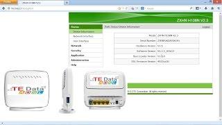 ظبط اعدادات روتر تى داتا الجديد tedata router zxhn h108n v2