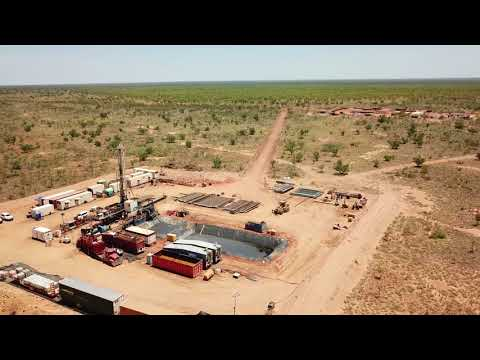 Drone Video of the DDGT 1 Drilling Operations at Ungani 4
