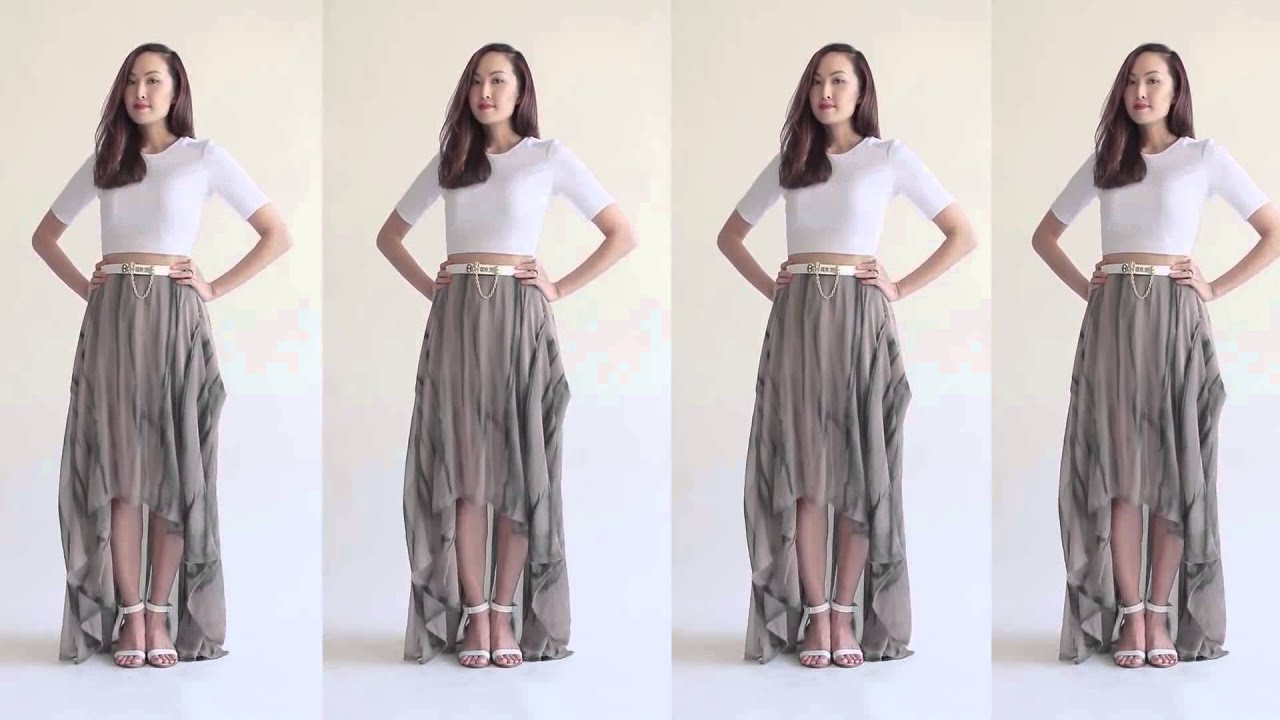5 Ways To Transform Your Maxi Skirt - YouTube