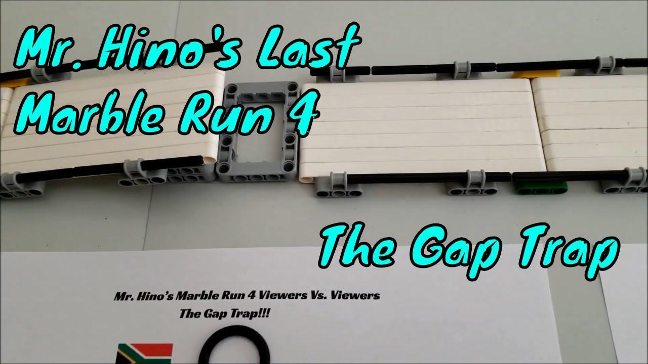 """Mr. Hino's Last Marble Run 4 The Gap Trap Viewers Vs  Viewers"" Watch Me Take Apart Marble Run!"