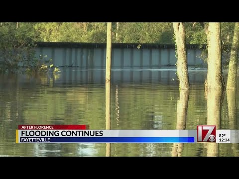 The Cape Fear River in Fayetteville not expected to crest until Wednesday morning