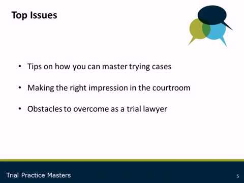 Career Advice Series: Trial Tips from Practice Masters
