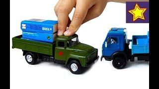 Машинки Игрушки Грузовик ЗИЛ 130 и Камаз Kids Toys Video