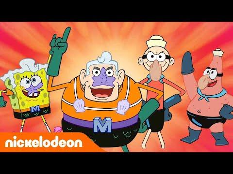 🔴 SpongeBob SquarePants | Pahlawan-Pahlawan Di Dalam Air! | Nickelodeon Bahasa