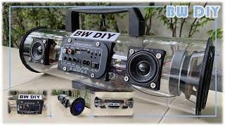 DIY bluetooth speaker boombox transparent by 3D printer
