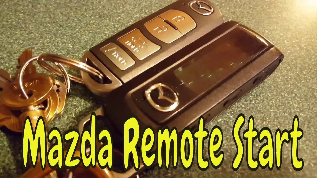2014 Mazda Mazda6 Remote Engine Start