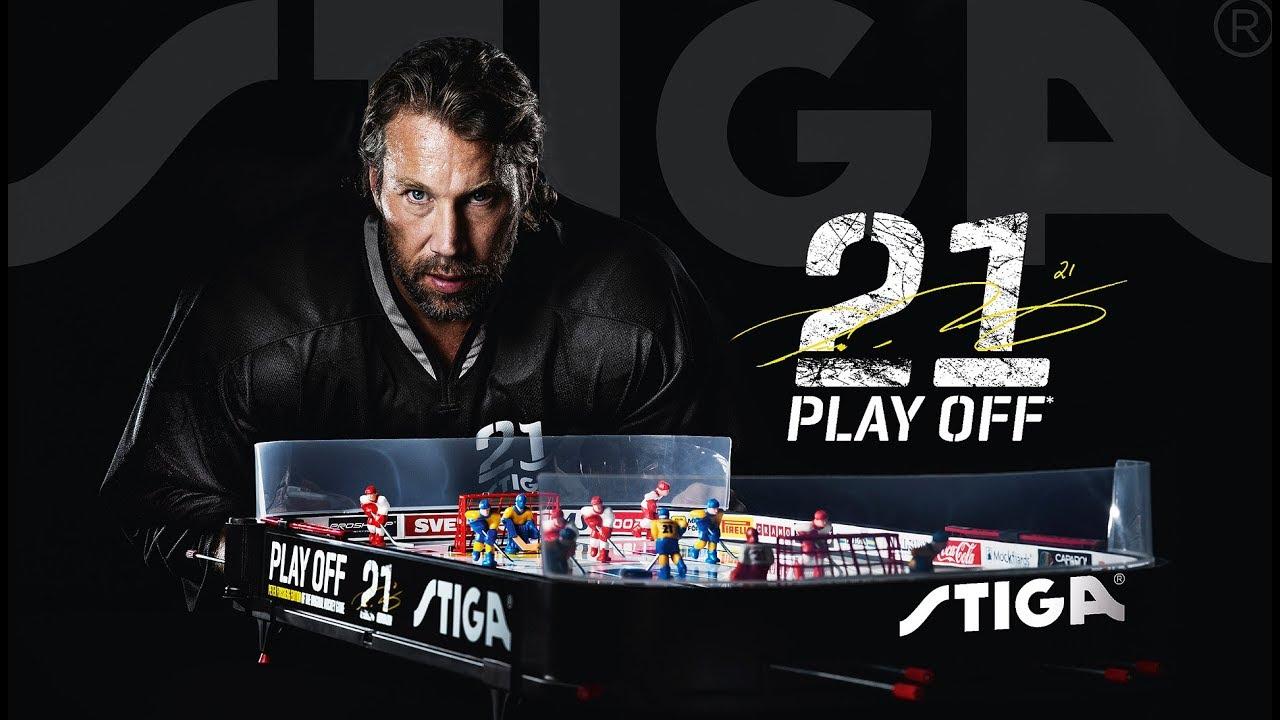 Новый настольный хоккей STIGA Play Off 21 Peter Forsberg Edition