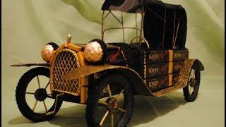Ретро автомобиль из шоколадных конфет. Мастер-класс.
