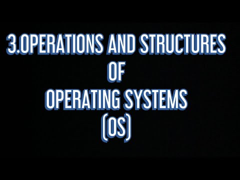 #3 Operations and Structures of Operating Systems |OS|