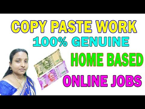 Home Base Work, Genuine, No Registration Fees, Copy & Paste Job, 10K Per Month in Tamil