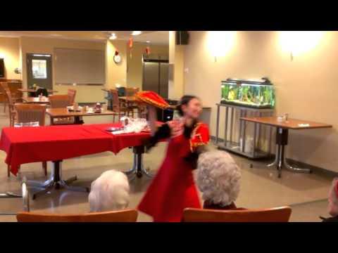 "Jessica Chinese New Year Dance Called ""YING CHUN FLOWERS"" At Three LinksManor On 3 February, 2016"