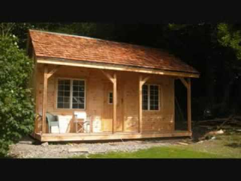 16x20 Vermont Cottage kit Rough Sawn Post and Beam